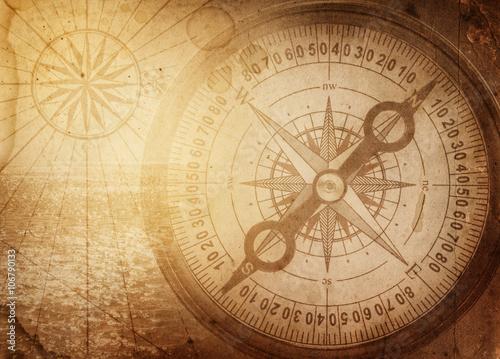 Keuken foto achterwand Schip Pirate and nautical theme grunge background