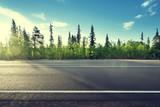 Fototapety asphalt road in forest