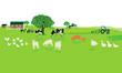freundliche Landwirtschaft mit Bauernhof