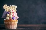 Chocolate bonbons cupcake