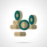 Wheels store flat color design vector icon