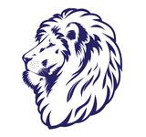 Blue lion head