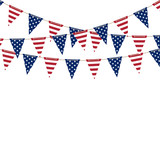 America triangle flag garland