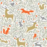 Summer woodland pattern - 106834560