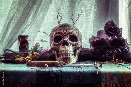 Plakát Voodoo Evil Skull Ritual