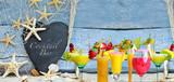 Fototapety Cocktailparty, Muscheln, Muschelstrand: Strandparty geöffnet :)