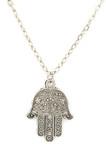 hamsa amulet pendant isolated on white