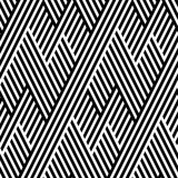 Vector seamless texture. Geometric abstract background. Monochrome repeating pattern of broken lines. - 106869944