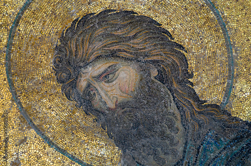 John the Baptist image on ancient mosaic Poster