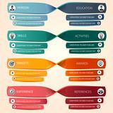 Minimalist CV , Business infographics templates V2