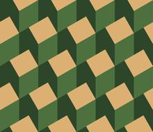 Vector illustratie van een naadloze herhalend patroon van isometrische huis