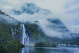 water falls in milford sound important traveling destination in