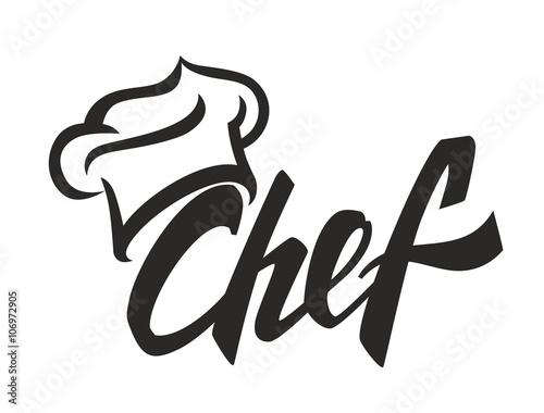 vector black chef
