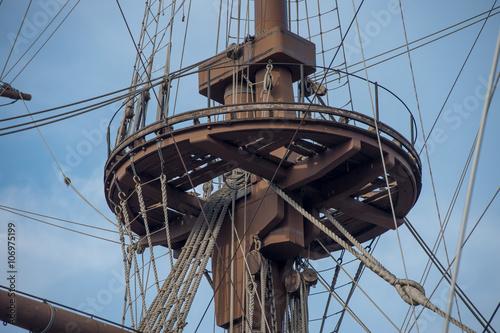 szczegóły statku pirackiego
