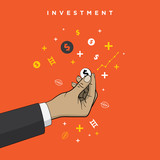business investment concepts square