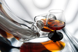 Cognac, whiskey or scotch. Alcohol background