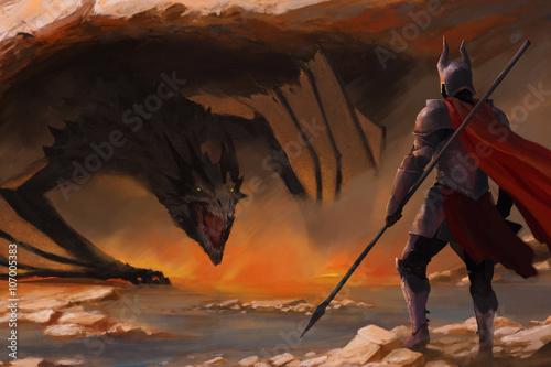 chevalier-et-un-dragon