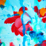 decorative abstract watercolor painting for interior, illustrati