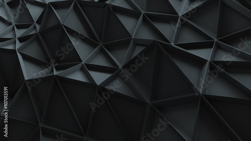 abstract 3d background with repeating pattern - 107013591
