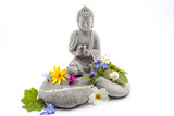 Stones whit flower and Buddha
