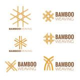 Fototapety The Bamboo weaving logo vector set design