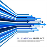 Fototapety Blue arrow line sharp vector abstract background