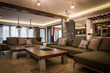 Great living room in modern villa house interior