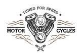 Custom motor in vintage style.