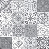 Fototapety Set of tiles background in grey.