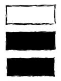 Grunge black frame vector background set - 107064512