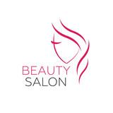 Beautiful woman vector logo template for hair salon, beauty salon, cosmetic