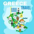 Obrazy na płótnie, fototapety, zdjęcia, fotoobrazy drukowane : Map Greece Poster