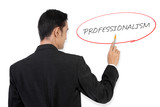 "Businessman pointing at ""Professionalism"""