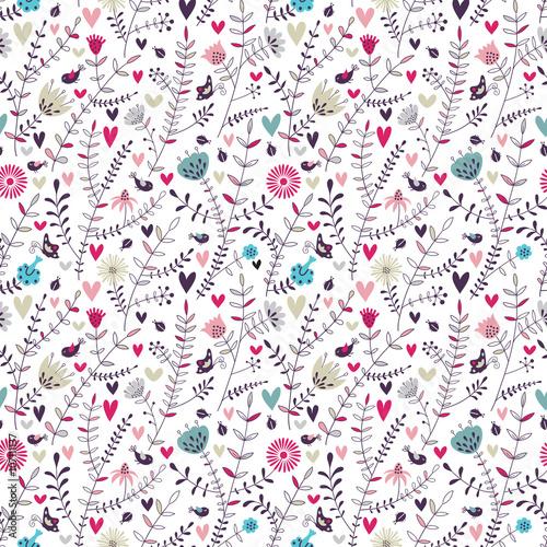 Romantic floral seamless pattern