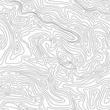 Topographic map, seamless pattern, line design, vector illustration