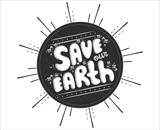 """VECTOR eps 10. Planet Earth day template. Hand drawn lettering text  Save our Earth in Retro style on black Sun. Save the planet Vintage Retro card. Concept background with flower vintage ornaments. 107079486,Dancer is doing exercises in ballet class"""""""