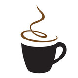 Cappuccino coffee hot vector illustration