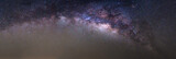 Panorama of milky way found at sky of Thailand - 107163759