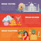 India Horizontal Banners Set