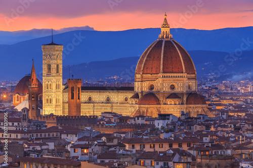Zdjęcia na płótnie, fototapety na wymiar, obrazy na ścianę : Sunset at Florence, Toscana, Italy