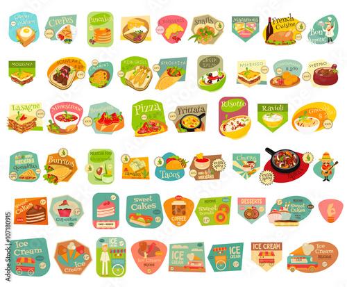 Food Stickers Set © elfivetrov