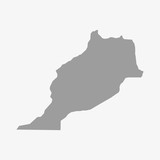 Morocco map in gray on a white background