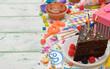 Obrazy na płótnie, fototapety, zdjęcia, fotoobrazy drukowane : Colorful accessories for children's parties