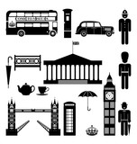 Fototapety Vector London City street icon set. A set of London symbols and landmarks in silhouettes. Vector Illustration. EPS 10.