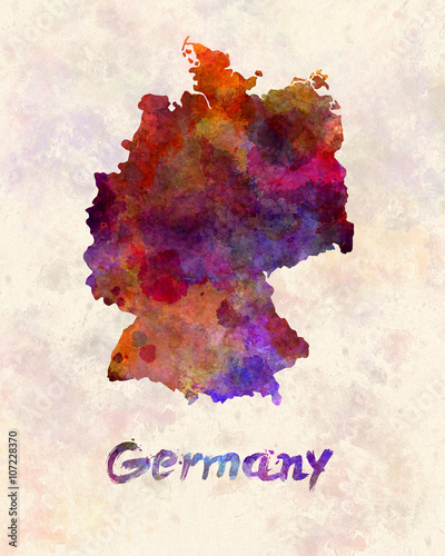 Germany in watercolor - 107228370