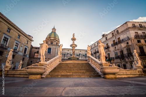 Foto op Plexiglas Palermo Piazza Pretoria (della vergogna), Palermo