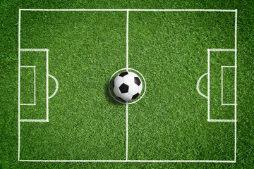 fototapeta piłka nożna obrys boiska