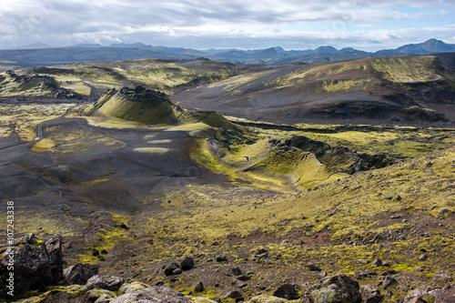 Keuken foto achterwand Noord Europa Volcanic landscape in Lakagigar, Laki craters, Iceland