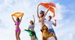 Obrazy na płótnie, fototapety, zdjęcia, fotoobrazy drukowane : beach young  party