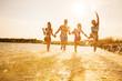 Obrazy na płótnie, fototapety, zdjęcia, fotoobrazy drukowane : happy people  on beach